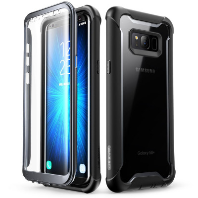 Samsung Galaxy S8+ Plus case, i-Blason Full-body Rugged Clear Bumper Case with Built-in Screen Protector for Samsung Galaxy S8+ Plus 2017 Release (Black)